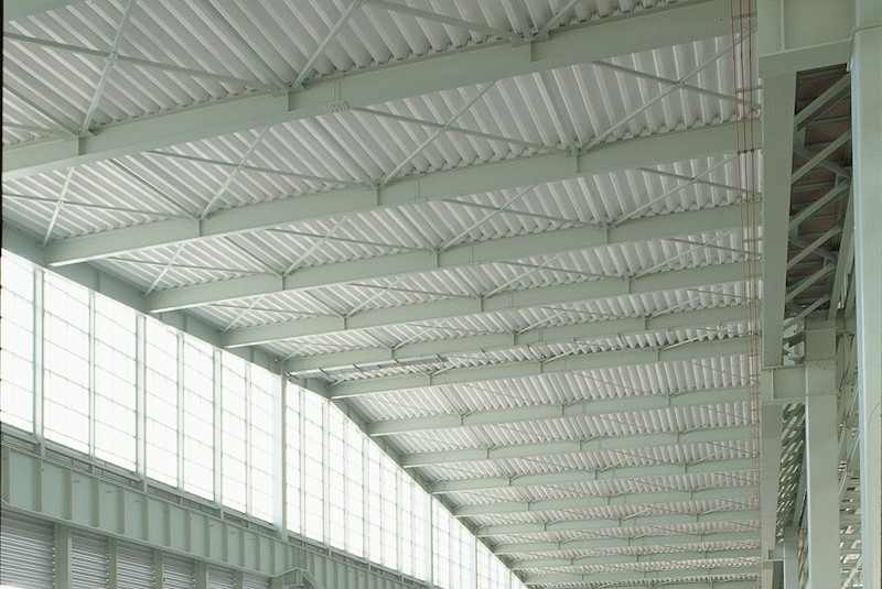 Fire-proofing insulation material for corrugated steel roof